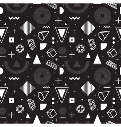 Memphis style seamless pattern vector image vector image