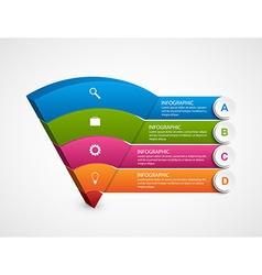 Modern 3D infographics options banner vector image