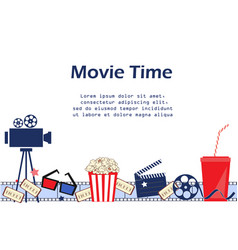 movie background with cinema attributes seamless vector image