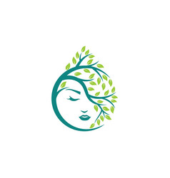 natural beauty logo template vector image