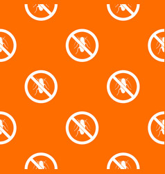 No cockroach sign pattern seamless vector