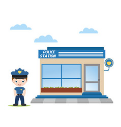 office police vector image