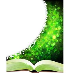 Open magic book vector image