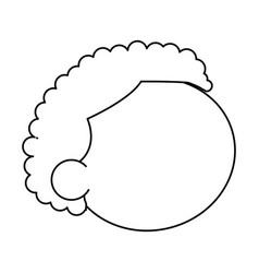 Outline head boy little hair style vector