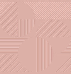 pale pink geometric background vector image