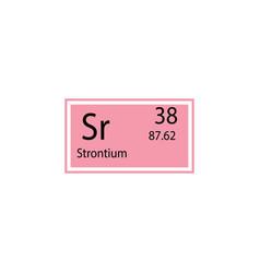 periodic table element strontium icon element of vector image