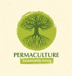 Permaculture sustainable living creative vector