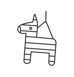 Pinata linear icon vector