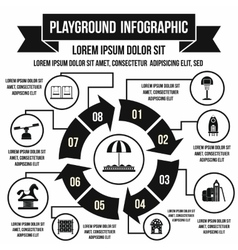 Playground infographic elements simple style vector image