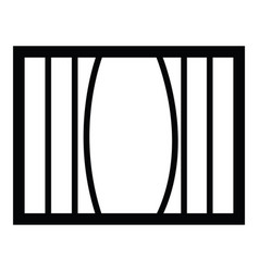 Prison icon vector