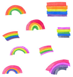 Rainbow elements vector