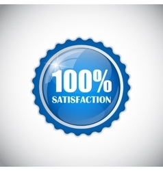 Satisfaction blue label vector