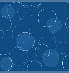 seamless classic blue pattern with circles vector image