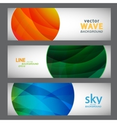 Set 3 abstract pictures of bright color vector image