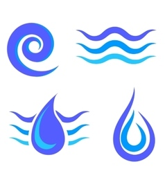 Set of Water Icons Isolated vector
