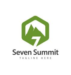 Seven summit logo template design vector