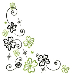 Shamrocks decoration tendril vector