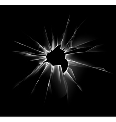 Shattered Window with Sharp Edges and Bullet holes vector image vector image