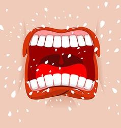 Shout aggressive face man yells violent emotion vector