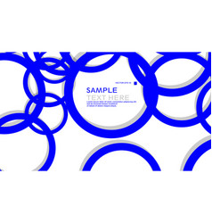 simple circles background with color blue and vector image