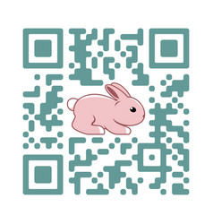 smartphone readable qr code happy easter vector image