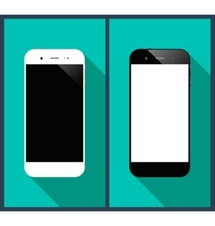 Smartphones long shadow vector image