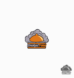 smoked is a food or restaurant logo that related vector image