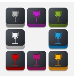 Square button cocktail vector