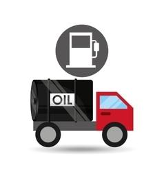 Tank truck oil industry gasoline vector