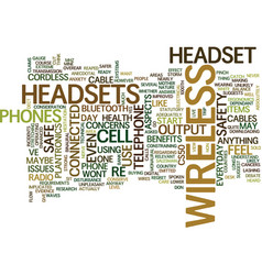 Telephone headsets wireless headsets are they vector