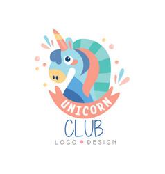 Unicorn club logo design emblem can be used vector