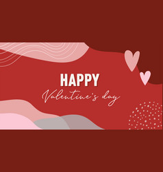 Valentines day abstract background with copy space vector