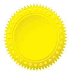 Wax gold seal vector