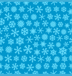 winter seamless pattern with snowflakes vector image