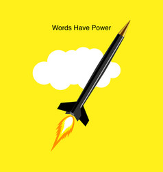words have power vector image