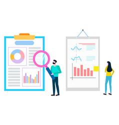 Worker magnifier investigate statistics analysis vector