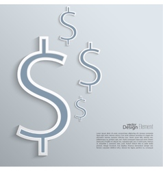 Abstract background with a dollar sign vector image vector image