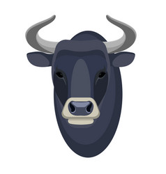 bull head realistic icon muscular and aggressive vector image vector image