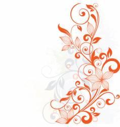 floral vine vector image vector image