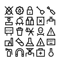 Industrial Icons 6 vector image