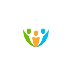 Isolated abstract colorful people logo vector image