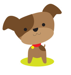 little brown pup vector image