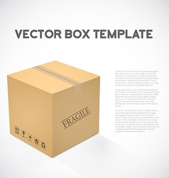 Realistic 3D Cube Cargo Shipping Device Box Icon vector image