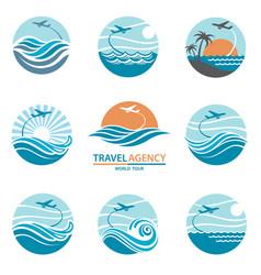 travel logo set vector image vector image