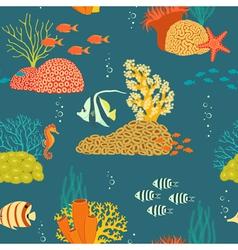 Underwater life pattern vector image vector image