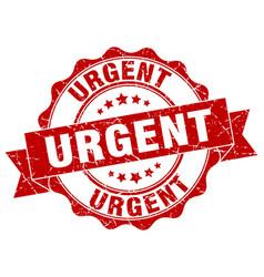 urgent stamp sign seal vector image