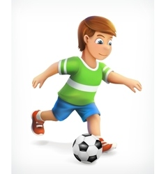 Little football playe vector image vector image