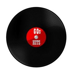 Vinyl record 60s hits vector image vector image