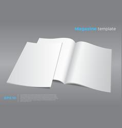 blank magazine mockup template vector image
