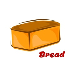 Cartoon loaf of white wheat bread vector image vector image